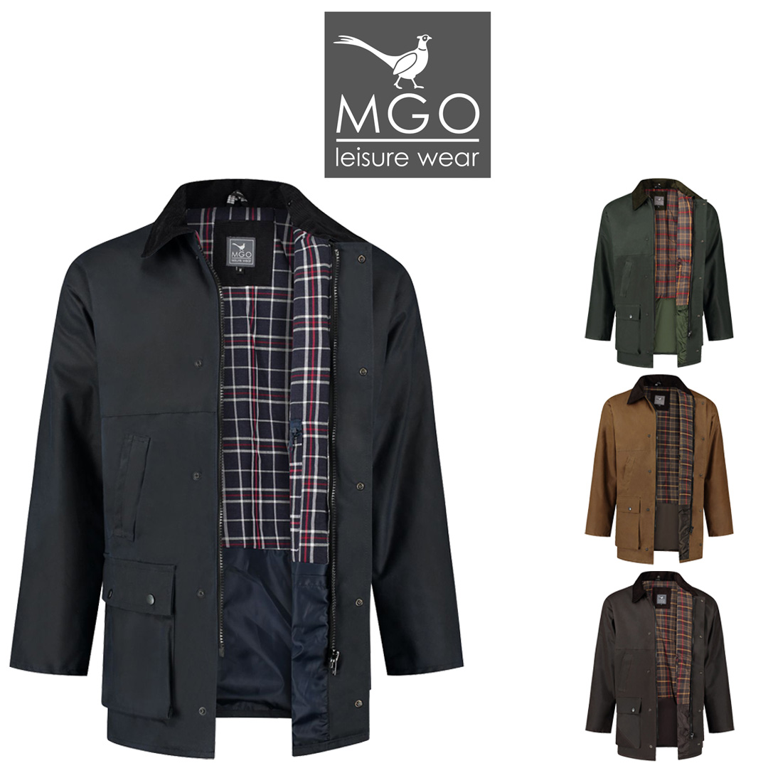 MGO Basic Wax Jacket - voor dames en heren